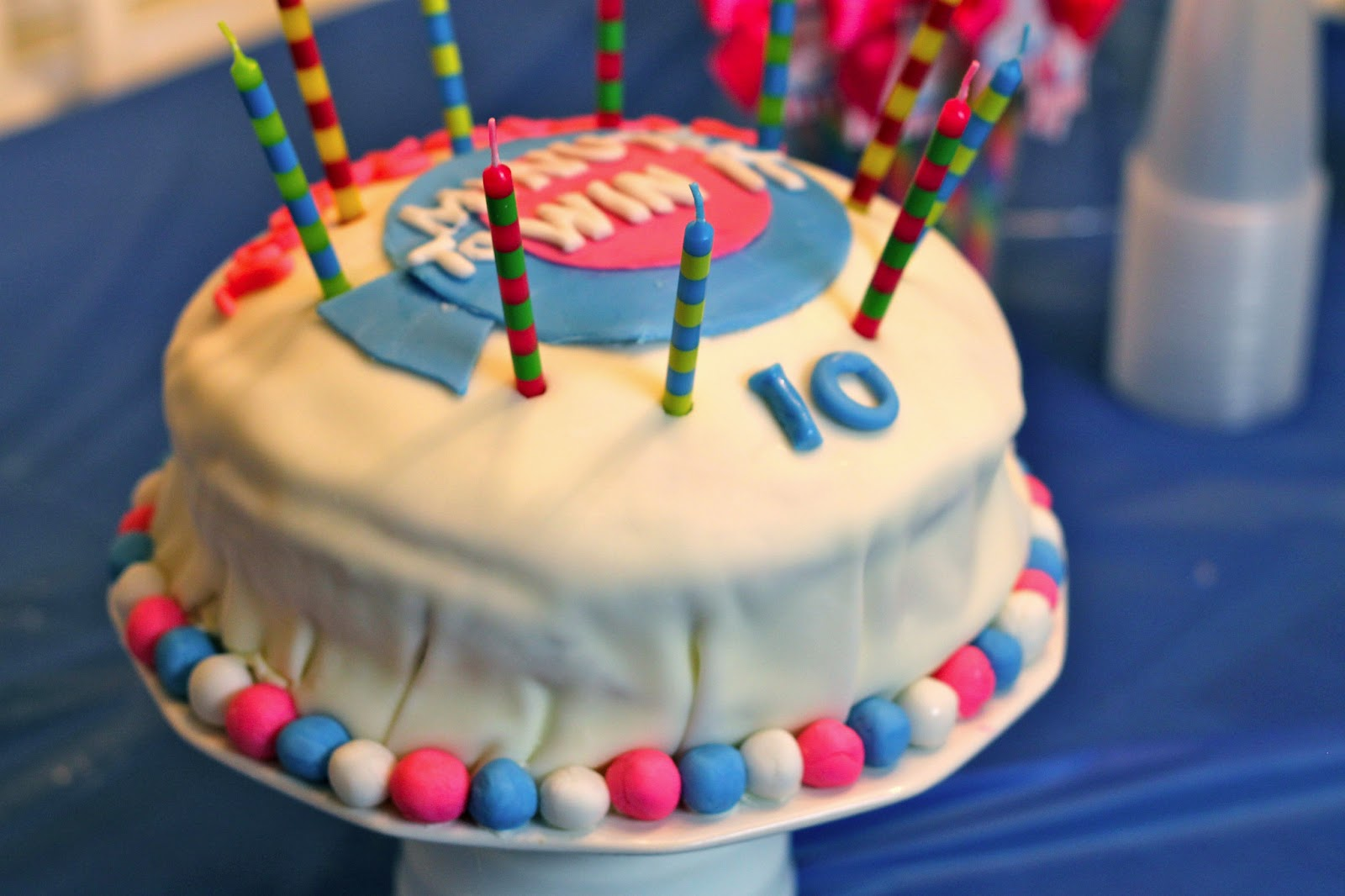 Cake Decorating Ideas For 10 Year Old Boy : Blair s Blessings: 10 Year-Old Minute to Win It Birthday Party