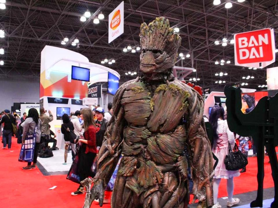 there were plenty of groots but we couldnt find one that topped daniel ramos adaptation he spent nine days creating the costume which is made of intertwined pipes and airbrushed plaques of vinyl foam for bark