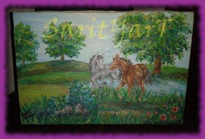 caballos oleo
