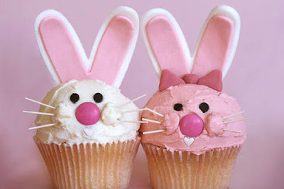 Easter Bunny Cupcakes Decorations