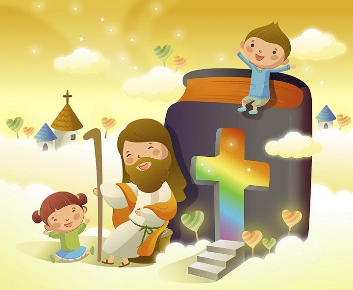 jesus con los ninos imagenes cristianas para imprimir noe y los ...