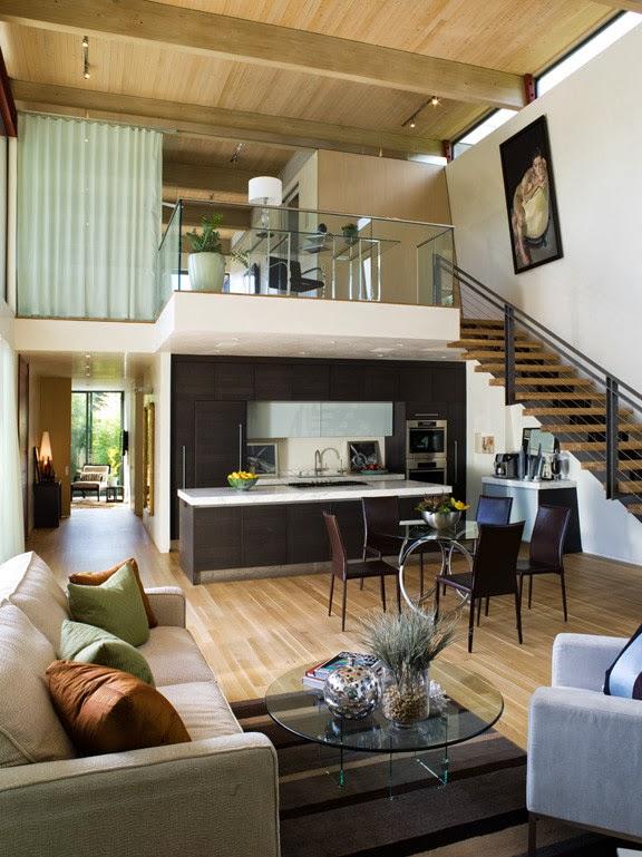 House ideas open concept cocina sala comedor for Diferencia entre halla y living room