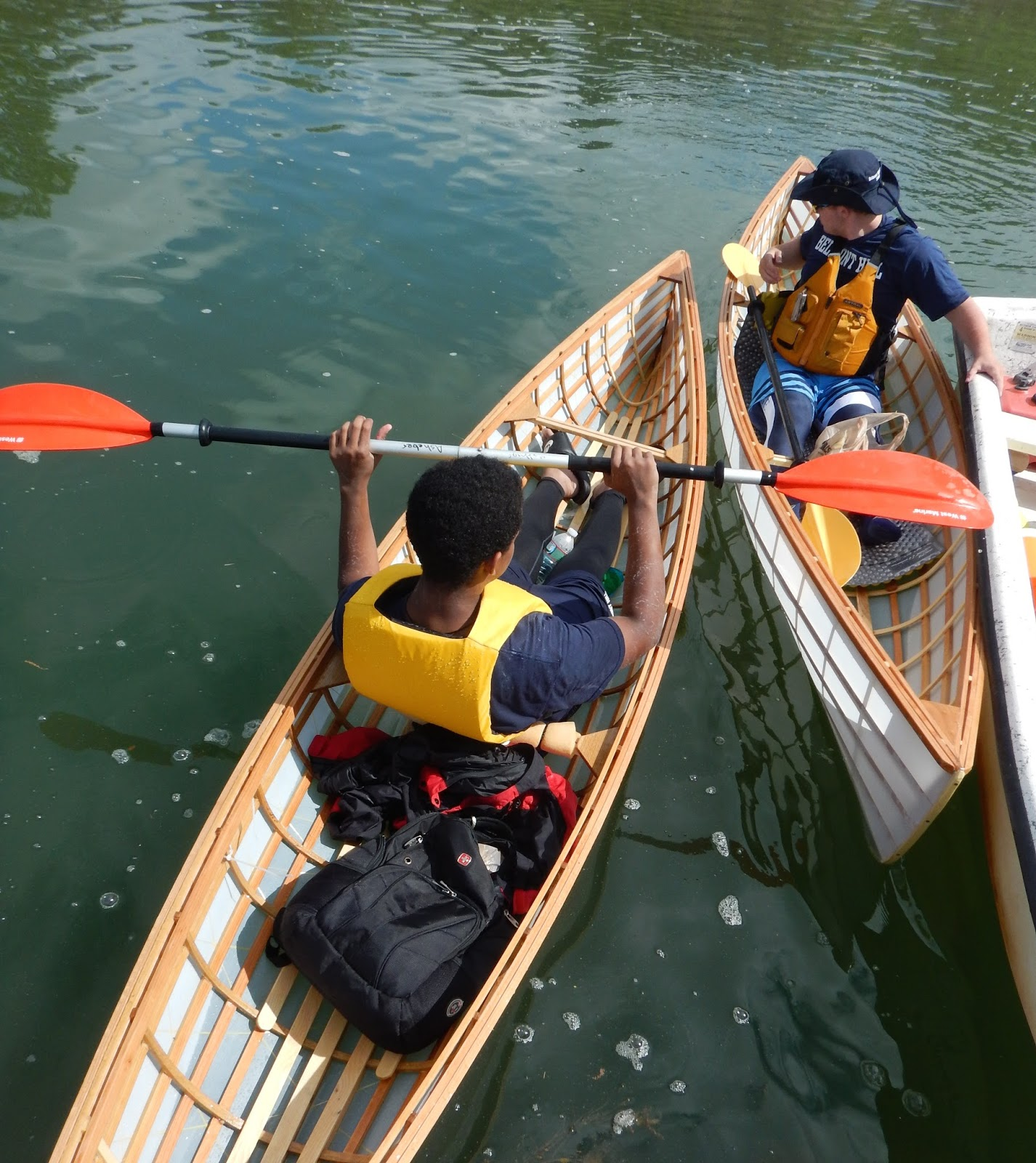 Building Skin on Frame Canoes at Belmont Hill