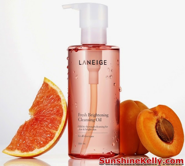 Laneige Cleansing Oil, Laneige Fresh Brightening Cleansing Oil, Laneige Perfect Pore Cleansing Oil, Usage, step by step how to use cleansing oil, skincare, korea, korean skincare,