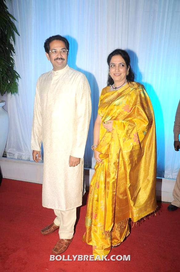Uddhav Thackeray, Rashmi Thackeray - Politicians  @ Esha Deols wedding reception