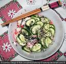 salada de pepino agridoce