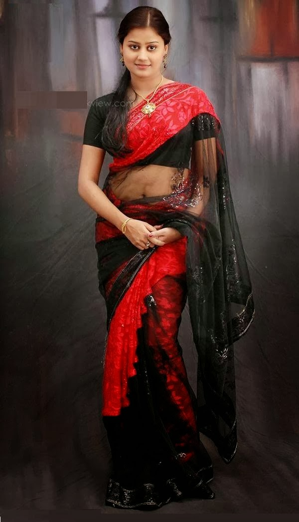 ansiba hassan in read and black saree with black color blouse ansiba ...