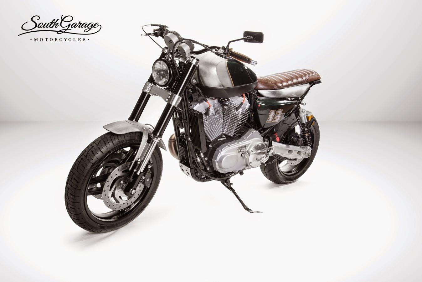 racing caf harley xr 1200 knuckle by south garage motorcycles. Black Bedroom Furniture Sets. Home Design Ideas