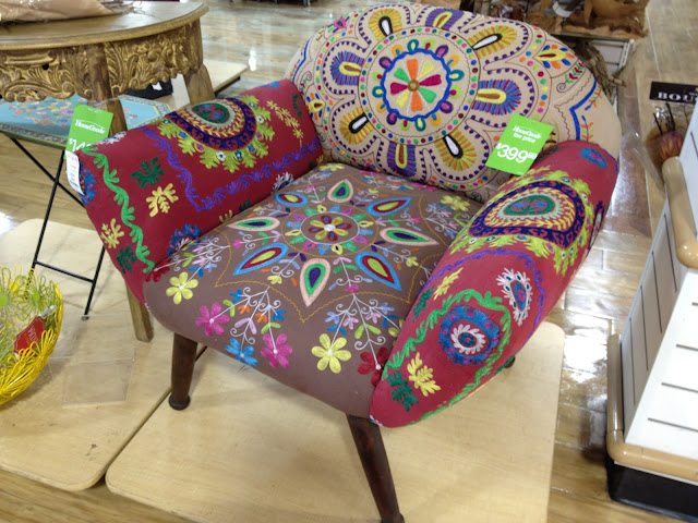 Captivating Suzani Embroidered Lounge Chairs Similar To These.