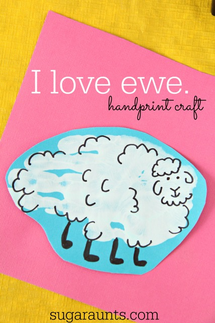 I love Ewe Sheep handprint craft for Valentines Day or Mothers Day...any homemade card, really!