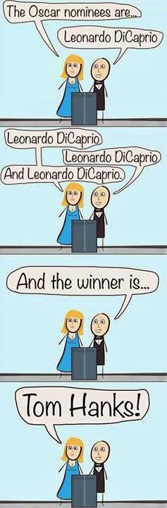 Leonardo DiCaprio y Tom Hanks Oscar