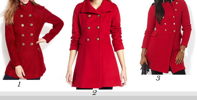 Red Military Coat | Fashion Women's Coat 2017