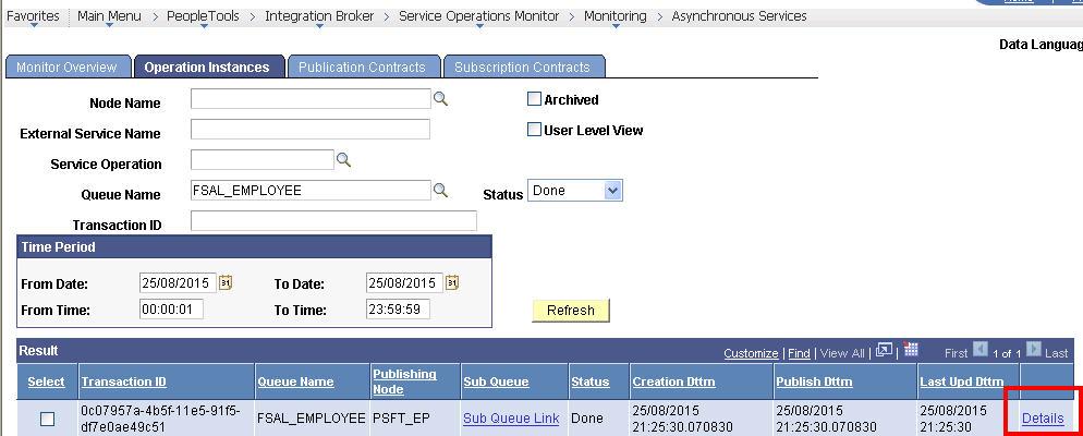 Service broker queue status column