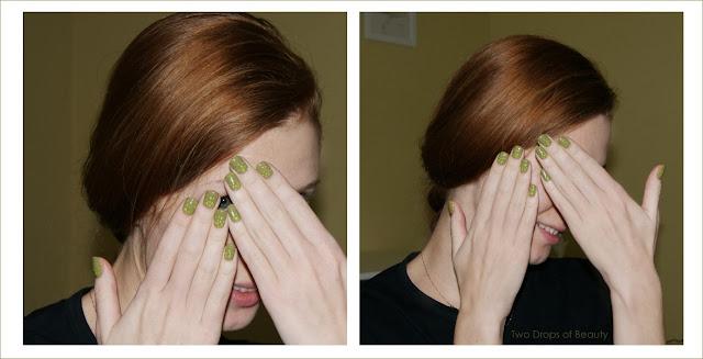 маникюр, зеленый лак, для чайников