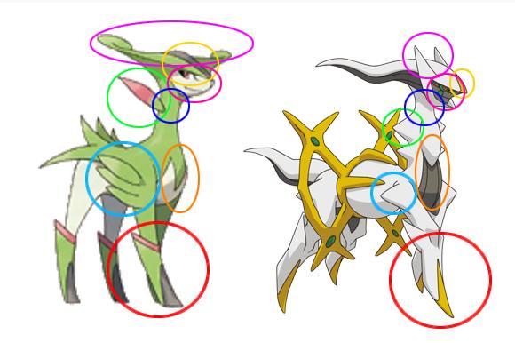 lightdeoxys virizion and arceus similaritys