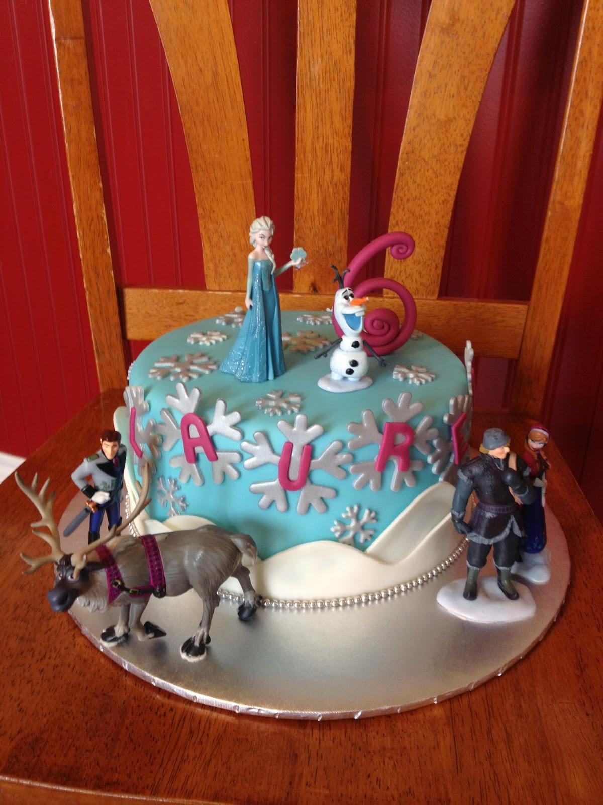 Sugar Love Cake Design Single Tier Frozen Cake