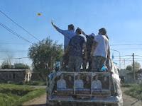 LUJAN: LA CAMPORA PARTICIPO DE LA CARAVANA DEL FPV