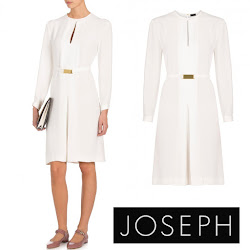 Crown Princess Mary Style - JOSEPH Lynne Belted Dress