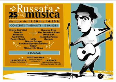 celebracion del dia de la música en el barrio de ruzafa