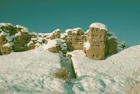 Крепость Пор-Бажын в снегах