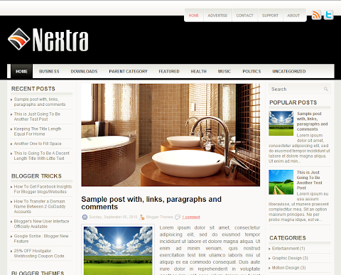 Nextra Blogger Theme