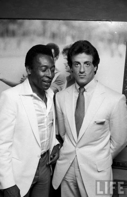 Pelé e Sylvester Stallone
