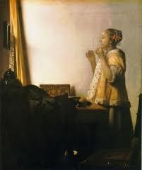 Vermeer schilderij Vrouw met parelsnoer