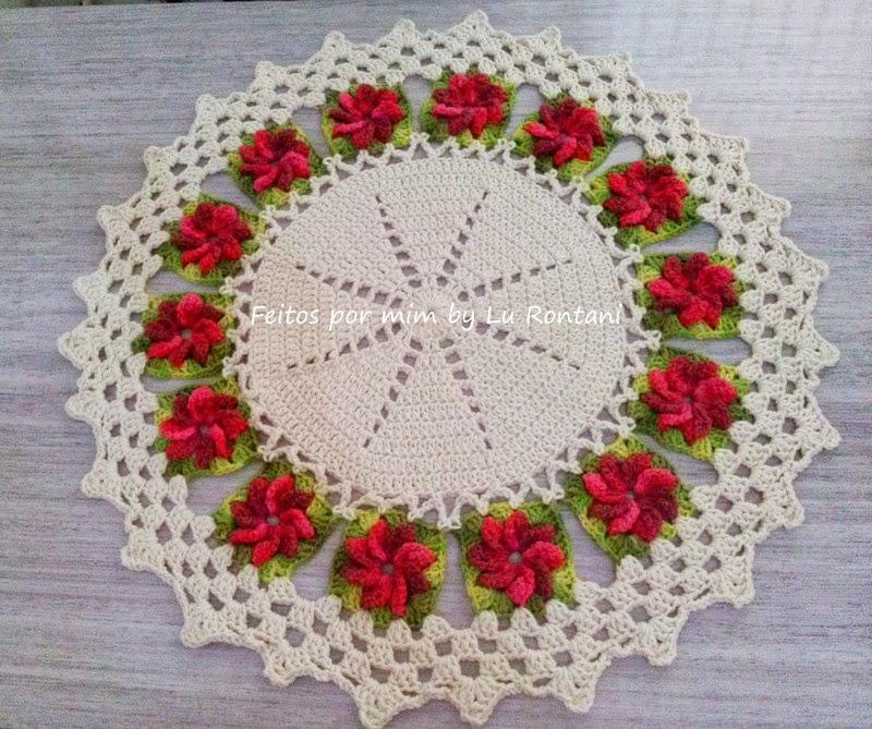 Tapete redondo Flores 3