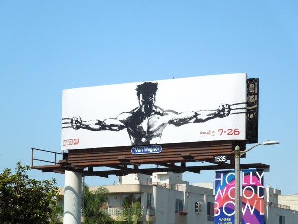 Wolverine suiboku-ga style billboard