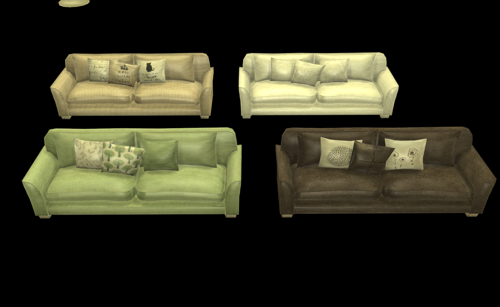 My Little The Sims 3 World Furniture Recolors Set 5