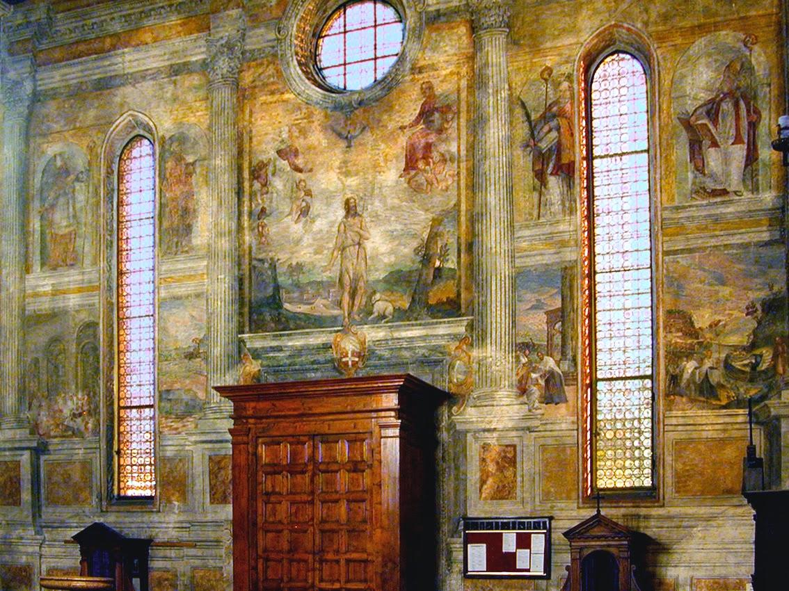 Controfacciata del Duomo di Oderzo prima del restauro
