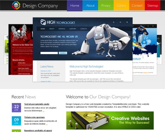 les meilleurs template html 5 css 3 gartuits
