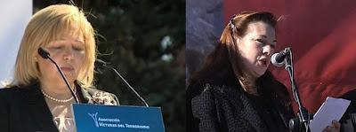 Pilar Manjón y Ángeles Pedraza en el aniversario del 11-M
