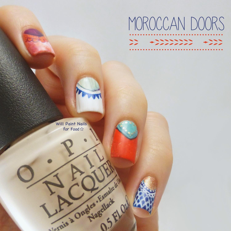 Moroccan Doors nail art