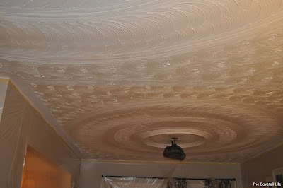 Half-painted ceiling