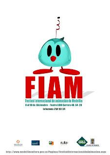 Cartel para la primera edición del Festival Internacional de Animación de Medellín 2011