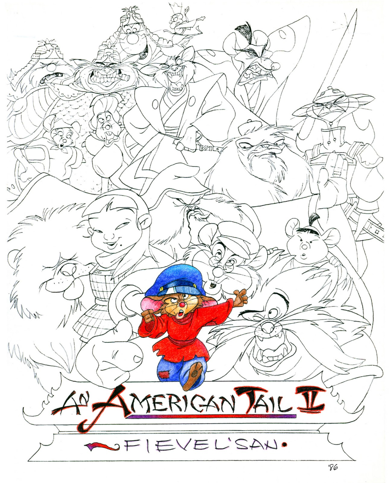 an american tale coloring pages - photo#4