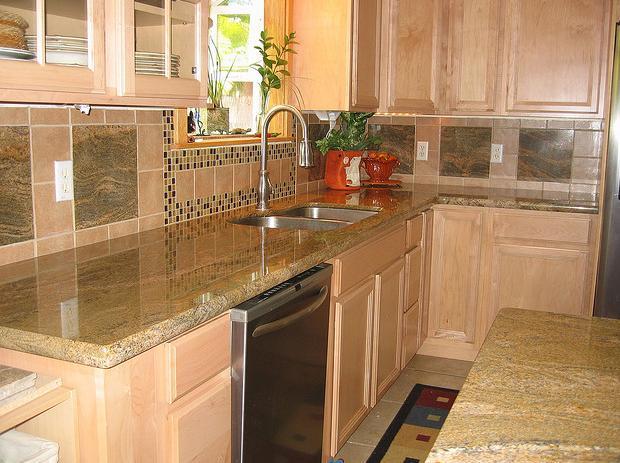 tile backsplash with granite countertops enlightened
