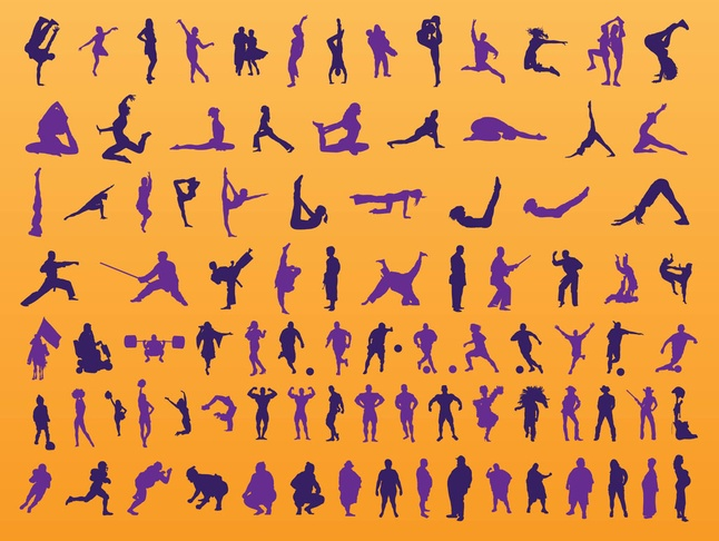 Free Vector People Silhouettes Set Graphics
