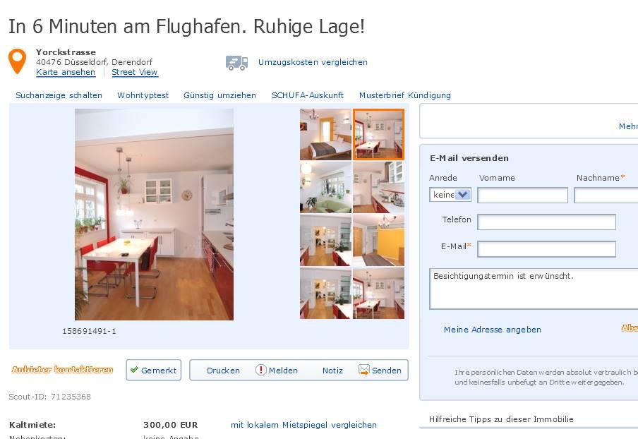 Gegen Wohnungsbetrug against rental scammers