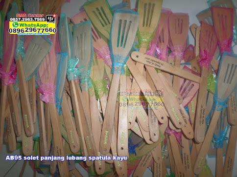 solet panjang lubang spatula kayu jual