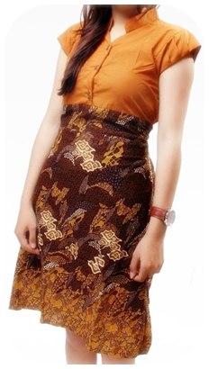 Model baju batik sarimbit modern Model Baju Batik