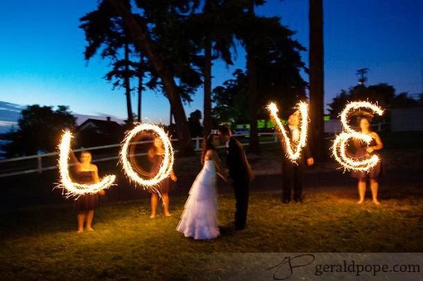 Photo mariage romantique