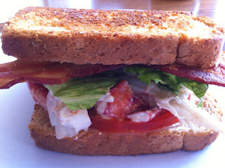 Homemade Lobster Club Sandwich