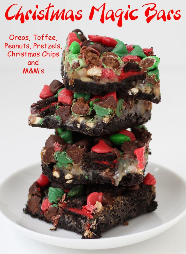 Christmas Magic Bars | HungryHappenings.com