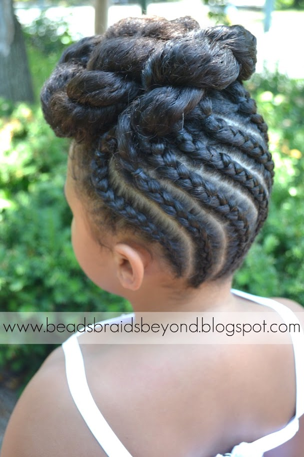 African American Braids Updo Hairstyles