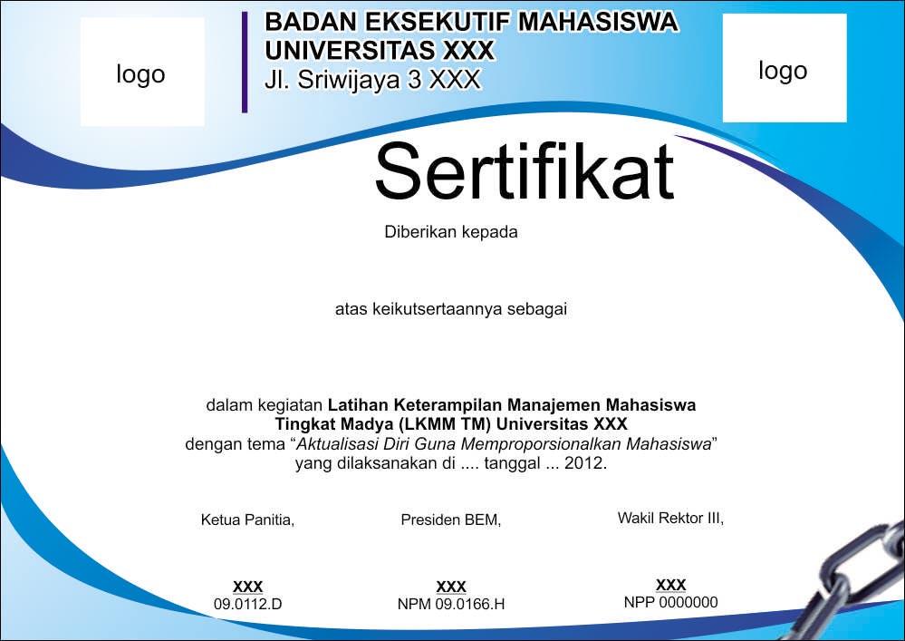 Download Contoh Desain Sertifikat
