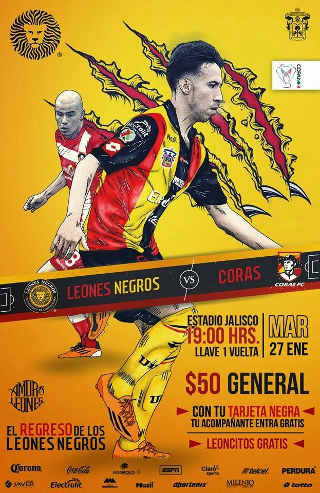 Hoy Leones Negros vs Coras Copa MX