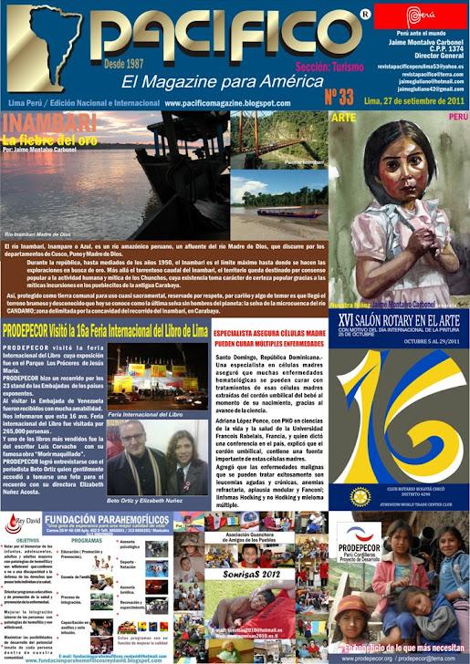 Revista Pacífico Nº 33 Turismo