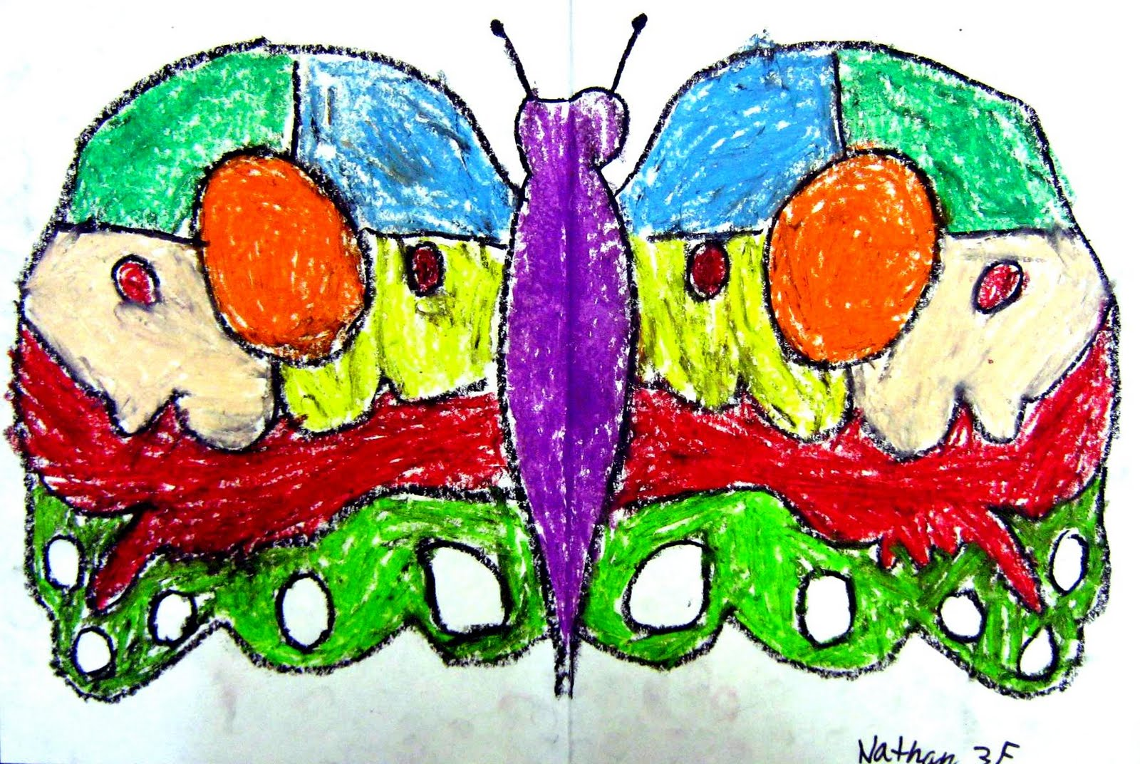 Art Dish with MJ: Oil Pastel Butterflies